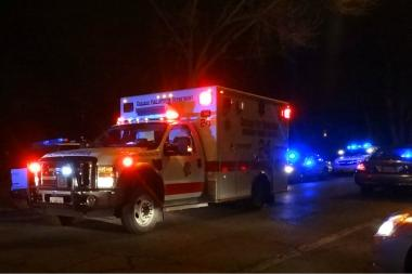 A 19-year-old was taken to Northwestern Memorial Hospital after he was hit by a car crossing Lake Shore Drive early Monday morning.