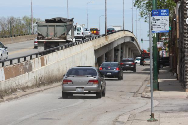 Plans to tear down the crumbling Western Avenue bridge over Belmont Avenue and replace it with a revamped intersection are not imminent, despite rumors to the contrary.