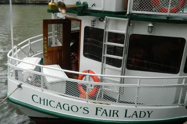 "A young woman who told rescuers she ""wanted to go swimming"" was pulled from the Chicago River Wednesday morning by a tour boat crew who just happened to be preparing for a rescue drill when she went into the water, authorities said."