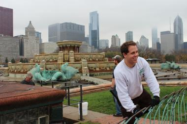 Crews did work over the winter to prepare Buckingham Fountain to be switched back on in the spring.