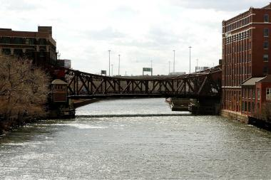 A man's body was found in the Chicago River near Roosevelt Road Tuesday, police said.