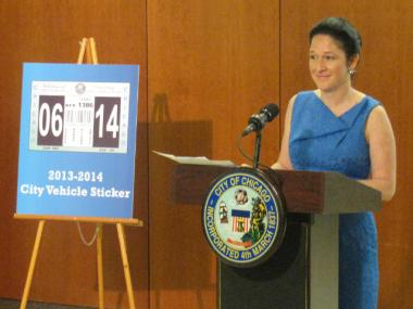 City Clerk Susana Mendoza is putting daily residential parking permits  online, to go with year
