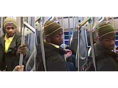 Police are searching for a man they say inappropriately touched two young women on a Red Line train.