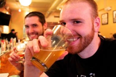 Matt Zimmerman, 25, an actuary, lives in Ukrainian Village and was drinking beer at SmallBar Thursday with his friend, David Wiegard, 26, a consultant.