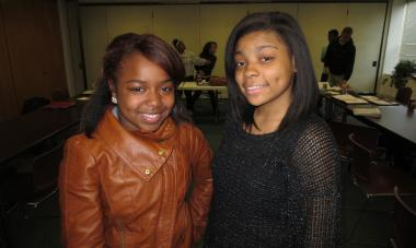 Ty'Nya Larry,16 (left), and Xena Sykes, 16, are both sophomores at Lindblom Math and Science Academy, who will visit China this summer for two weeks thanks to the Chicago Urban League.