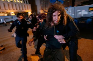 Jeremy Hammond was charged in 2009 for a disturbance in Daley Plaza during the city's bid for the 2016 Olympics.
