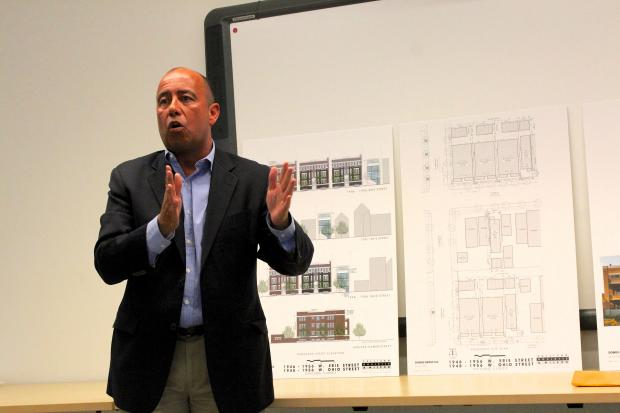 The owners of Domus Group, a developer and rental company headquartered at 1746 W. Division St., presented a proposal for five six-unit apartment rental buildings and three single family residences during a public meeting Tuesday.  The proposed development would be located on the 1900 blocks of West Erie and Ohio Streets and the 600 block of North Damen Avenue.