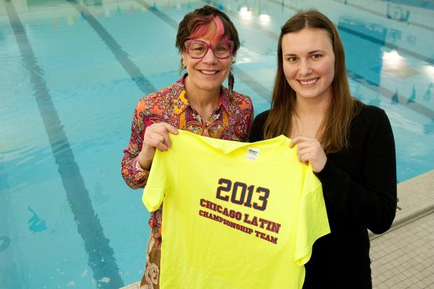 Latin School of Chicago's Director of Aquatics Celeste Laub-Norman, who for 40 years has coached some of Chicago's best swimmers, has hired Latin alum Danielle Carlson, who first took swimming lessons from Laub-Norman when she was 3 all the way through high school, as her assistant.