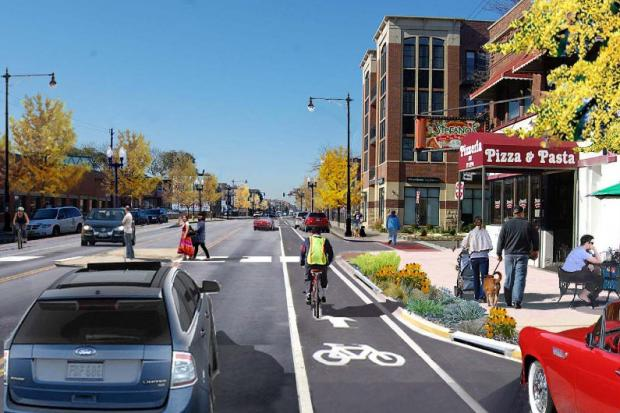 CDOT met with Lincoln Square business owners to discuss the Lawrence Avenue streetscape as construction is prepared to begin.