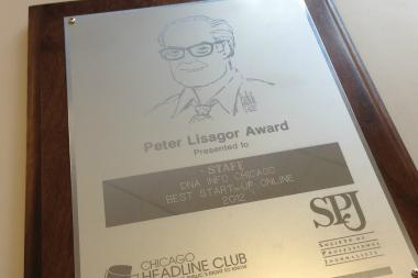 DNAinfo.com Chicago won the Chicago Headline Club's Peter Lisagor Award for 2012's best online startup.