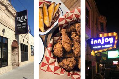 Polanco steakhouse (from left), Parson's Chicken & Fish, and Innjoy are three of the new bar and restaurant developments in Logan Square.