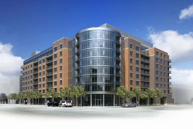 Ground was broken Thursday on a new nine-story luxury rental building on the Near West Side.