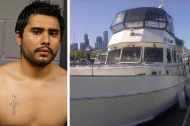 Julio Chavez Jr., 34, was charged with arson and burglary after Lacerne, a luxury yacht docked in Burnham Harbor, was on fire Friday afternoon, officials said.