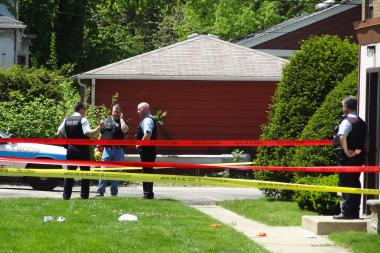 Police on the scene May 15 after a man was shot in the 9900 block of South Walden Parkway in Beverly.