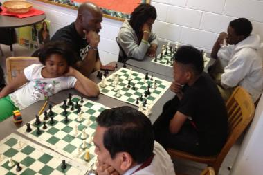Members of the Marshall-Faraday chess team practice at Faraday Elementary School in East Garfield Park. The Illinois Chess Association wants to take a chess program citywide.