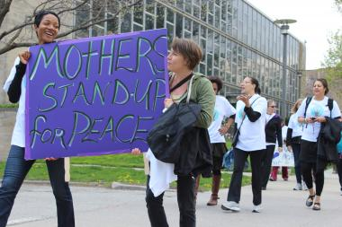 Mothers with the EarthHeart Foundation held a 'peace march and celebration' Saturday to address violence in Chicago.