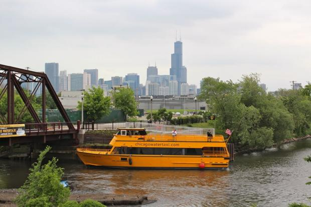 Chicago Water Taxi opened up service to the North Branch of the Chicago River Tuesday morning at its newest dock under the North Avenue bridge.