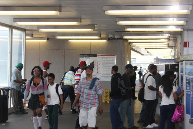 Red Line riders talk about how their commutes to work and school have been affected by the Red Line reconstruction project that began Sunday.