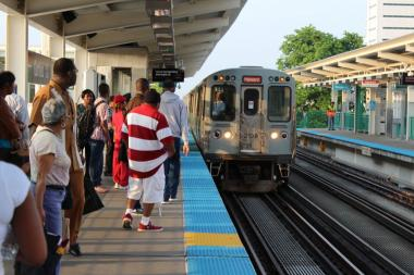 "A 31-year-old naked woman was arrested at the Granville ""L"" station Saturday afternoon. (File photo)"