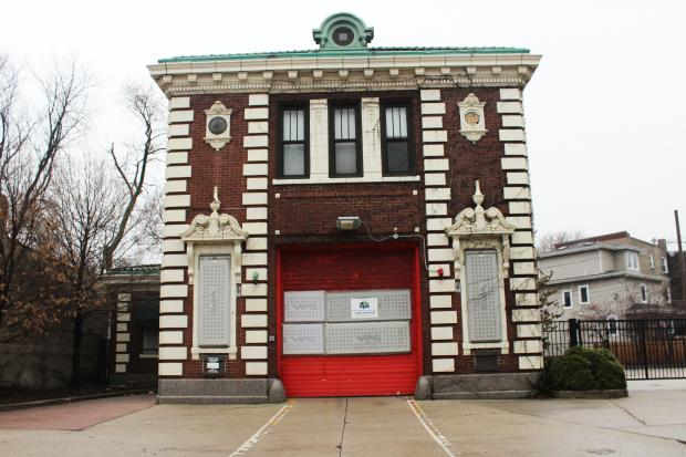 The interior of the Ridge Avenue Firehouse, which will begin its transformation into the new headquarters of the Chicago Filmmakers organization.