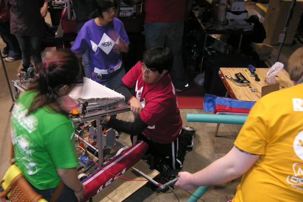 High school students from across the South and Southwest Sides competed in a team robotics competition.