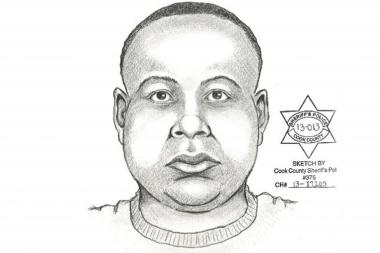 A police sketch of the suspect in the May 2 sexual assault of a 22-year-old woman in Edgewater