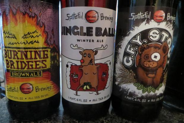 Spiteful Brewing promotes local artists on its beer labels.
