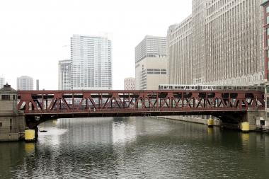 The Wells Street Bridge over the Chicago River