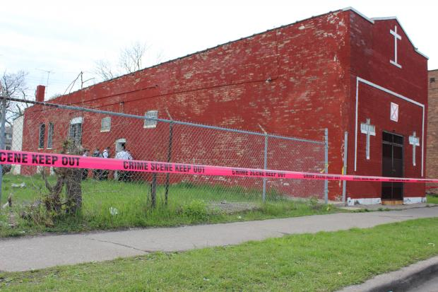 Denise Warfield, 47,  was found stabbed to death in an abandoned church on the South Side Saturday, police said.