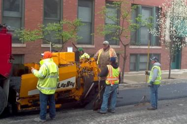 The resurfacing of Damen, between Addison Street and Irving Park Road, will last through October.