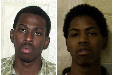 Darron Brewer (left) and his younger brother, DuJuan Powe (right) are on trial for the murder of Kenyatae Collier-Brewer, found dead in the trunk of her car in 2009.