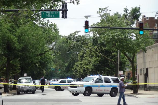 The shooting happened in the 7500 block of South Yates Boulevard, cops said.