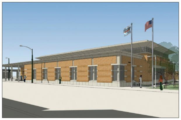 Renderings of the new Albany Park Library.