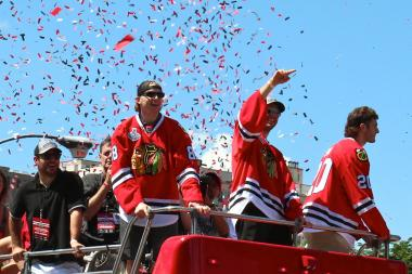 Thousands attended Friday's Chicago Blackhawks Stanley Cup victory parade and rally.