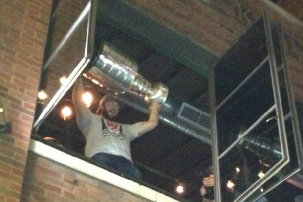 The Stanley Cup made its way around the Chicago area after the Blackhawks returned home early Tuesday.