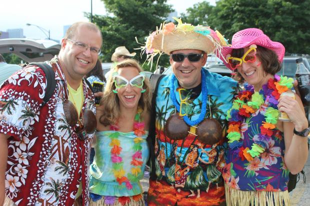 Thousands of parrotheads converged on Northerly Island Saturday evening to see Jimmy Buffett perform at the recently-renovated FirstMerit Bank Pavilion, which can now hold up to 30,000 people.