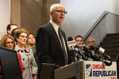 Chicago GOP Vice Chairman Chris Cleveland is seeking a probe into the electronic billboard deal, but has little leverage with no Republicans on the City Council.
