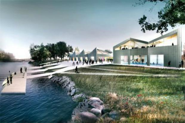 The Clark Park boathouse is set to open later this summer.