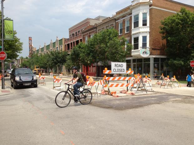 Construction on North Southport Avenue in Lakeview has been going on since early March, and could end as soon as this weekend.