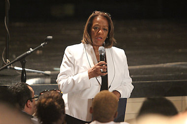 CEO Barbara Byrd-Bennett touted the revised code of conduct for its decline in suspensions.