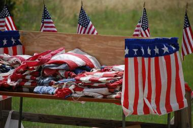 "Thousands of ""unserviceable"" flags from city-owned facilities will be part of a flag disposal ceremony on Friday."