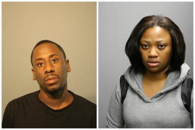 Glen Rice, 32, of the 800 block of East 193rd Place in Glenwood (left) and Jennifer Taylor, 31, of the 11200 block of South Champlain Avenue, were each charged with two counts of forgery.