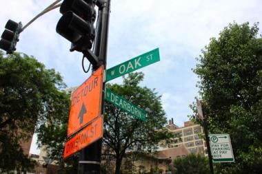 The intersection where a 26-year-old woman reported she was sexually assaulted Sunday morning.