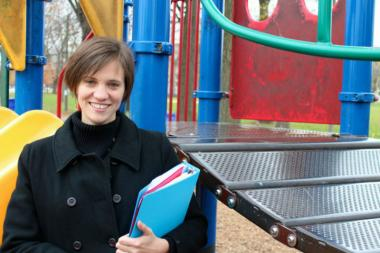Heather Breems, of McKinley Park, has led an effort to have the park's playground replaced.