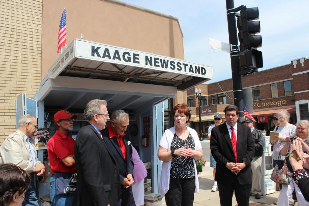 The Kaage News Kiosk has been an Edison Park landmark since 1943, and now has a namesake corner.