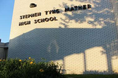 Mather High School at 5835 N. Lincoln Ave.