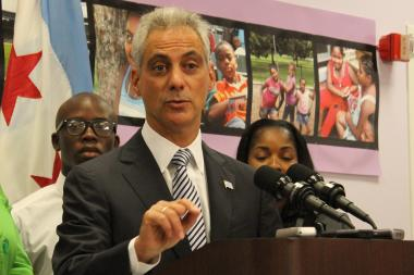 Mayor Rahm Emanuel declines to free a proposed ban on plastic shopping bags from City Council snarls.