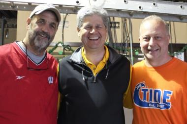 Terry Lyons, Ken Pospiech and Dave Friedrich run The Piggery restaurant at 1625 W. Irving Park Road.