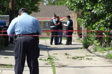 A man was shot dead in the Back of the Yards Friday afternoon, authorities said. File photo.