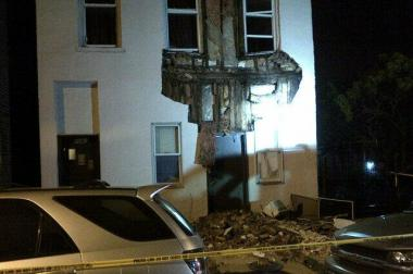 A century-old building facade collapsed in Pilsen early Wednesday morning.